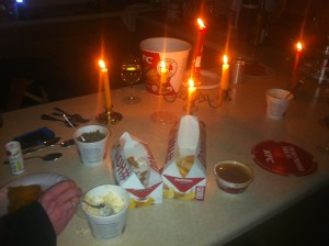 KFC by candlelight. A new Valentine's Day tradition?